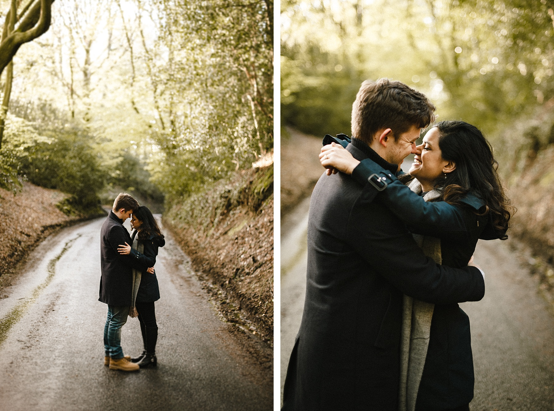 Photo of couple on engagement shoot in West Sussex