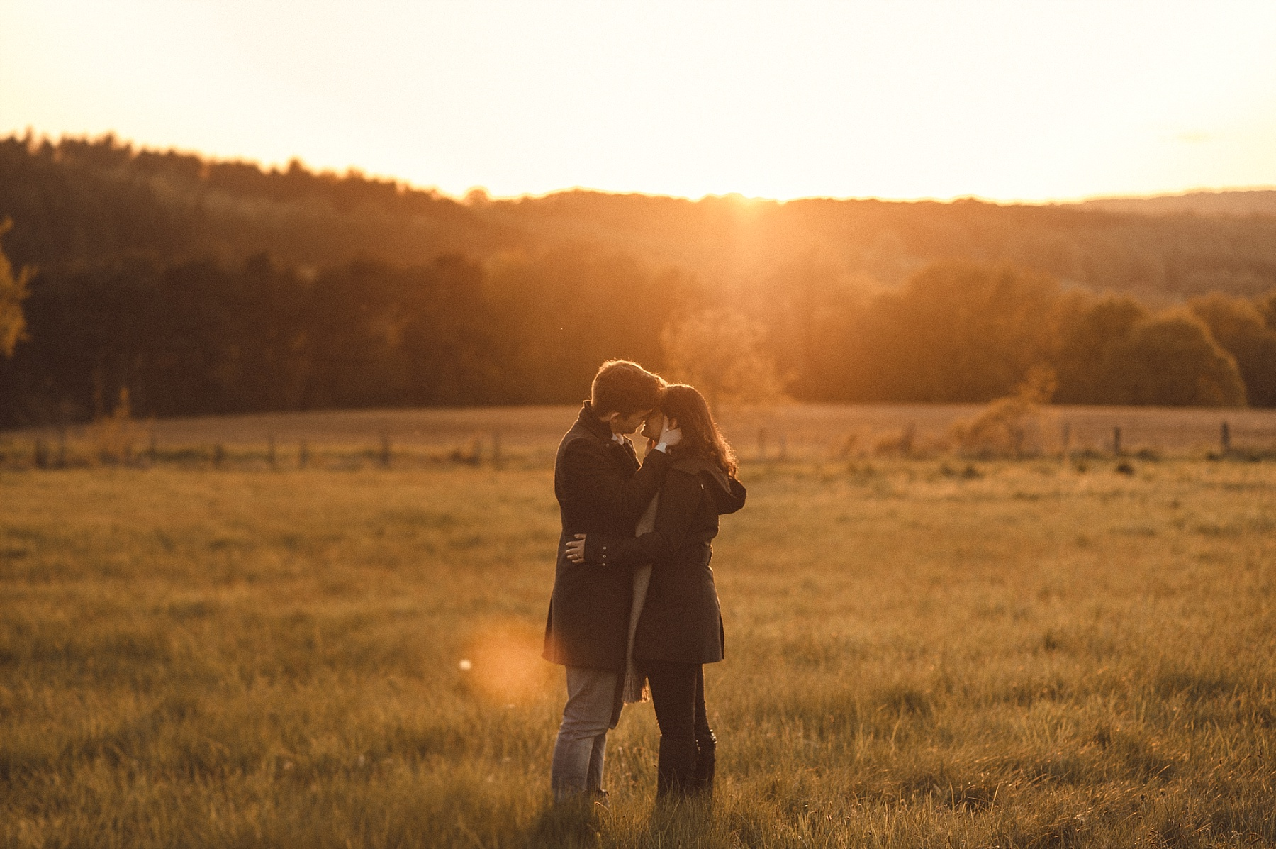 Sunset engagement shoot by Matt Lee wedding photographer